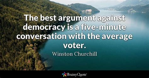 winston churchill   argument  democracy
