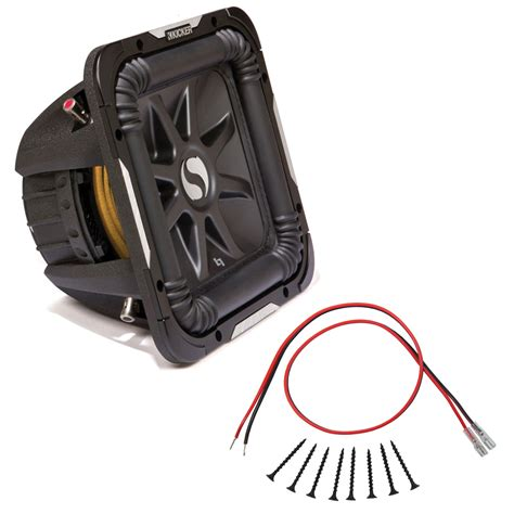 sub installation kit kicker s10l7d4 solo baric 10 quot 600 watt rms dual 4 ohm subwoofer with installation kit hpca