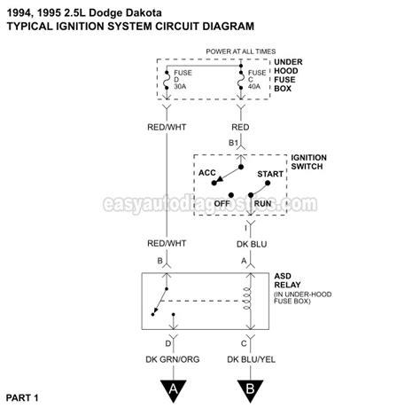 Dodge Dakota Ignition System Wiring Diagram