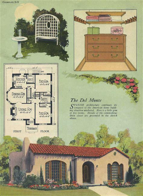 del monte spanish revival william  radford tile roof small house