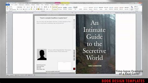 print book cover template  word preview youtube