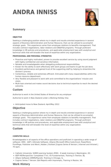 hr specialist resume sles visualcv resume sles