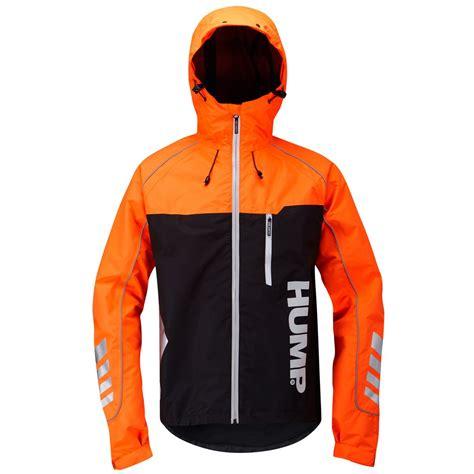 orange cycling jacket mens hump signal waterproof hi viz commuter cycling jacket