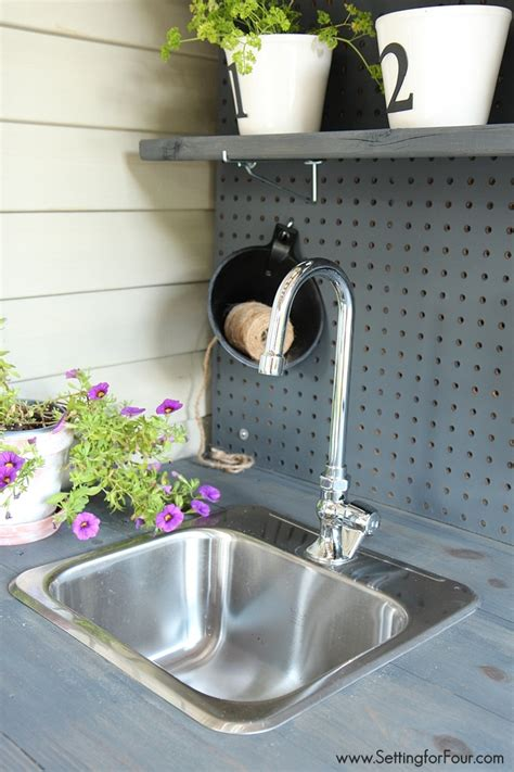 potting bench with sink make it diy potting bench with sink setting for four