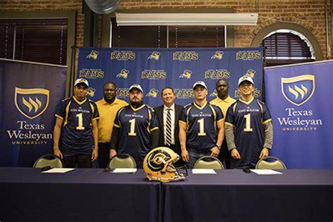 texas wesleyan football program signs  football