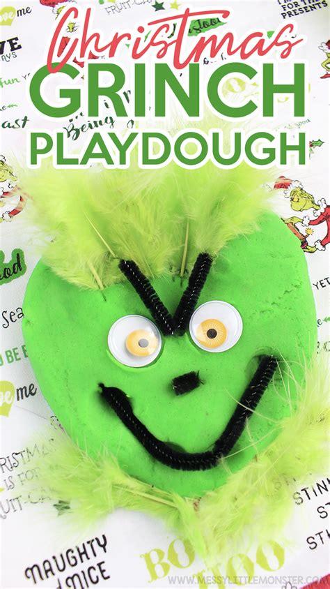 christmas playdough recipe christmas grinch playdough