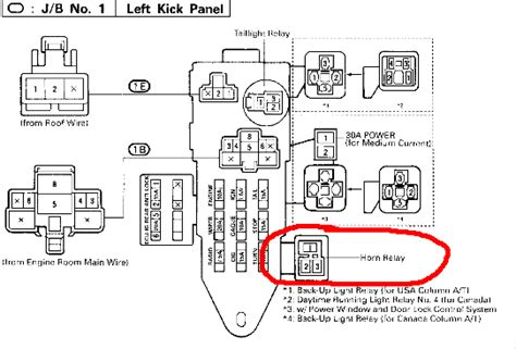 92 Toyotum Camry Fuse Box Diagram by What Is A Horn Relay And Where Is It On A 1992 Sr5 V6 4x4