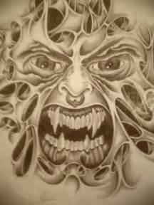 Evil Face Tattoo Drawings