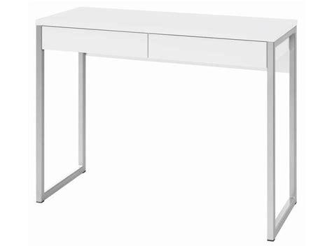 bureau a tiroir bureau 2 tiroirs leny coloris blanc vente de bureau