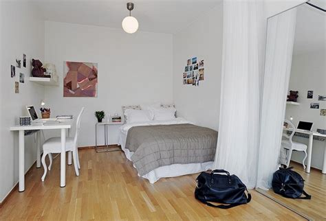 10 Small One Room Apartments Featuring A Scandinavian Décor