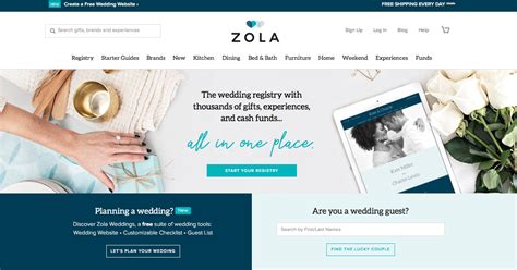 Top 5 Wedding Registry Websites For Brides And Grooms To