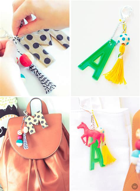 celebrate   school  diy monogram keychains thinkmakeshare
