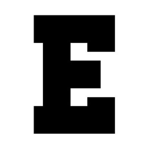 athletic block letter e shop polyvore block letter e levelings 72485