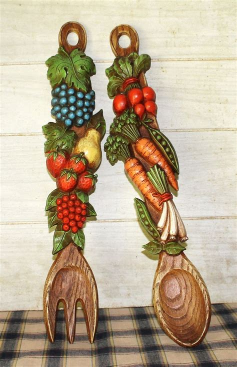 funky retro vintage kitchen decor fruit vegetable