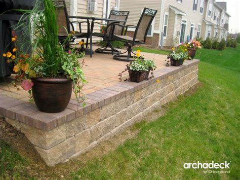 belgard paver patio with retaining wall in il