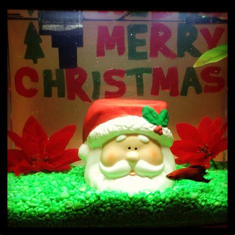 christmas decor  fish tank christmas pinterest