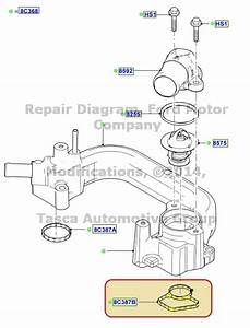 New Oem Thermostat Housing Lower Gasket Explorer F150