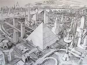 Futuristic city by bazaltique on DeviantArt