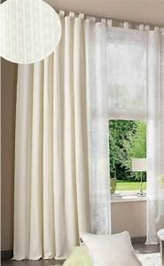 Vorhang Weiß Blickdicht : 1 st gardine 140 x 225 wei creme schal vorhang blickdicht schlaufen neu ebay ~ Whattoseeinmadrid.com Haus und Dekorationen