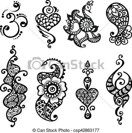 illustrations vectorisees de tatouage mandala ensemble