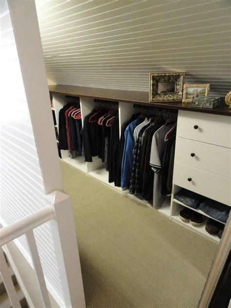 slanted closet wall idea organization and storage