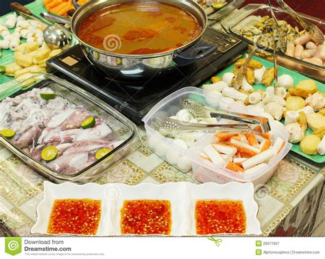 Steamboat Tomyam by Asian Dishes Tomyam Steamboat Stock Image Image 25671607