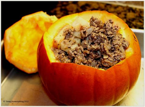 Stuffed Pumpkin Recipe — Dishmaps