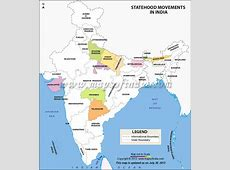 Statehood Movements in India