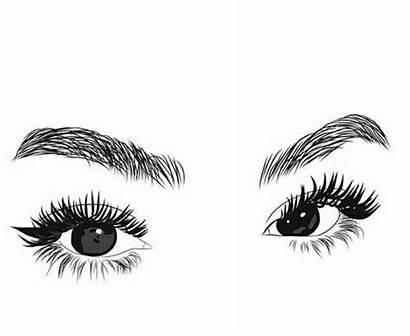 Clipart Outline Eyelashes Drawing Desenho Draw Eye