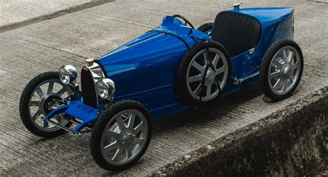 The article is called bugatti introduces the baby ii electric roadster priced at under $35,000. Bugatti Baby II Goes Into Production, Is A Driveable Scale Model Of The Type 35 | Carscoops