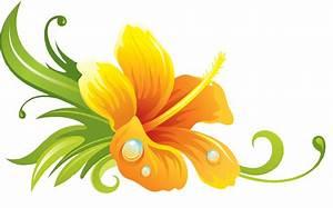 Yellow Hawaiian Flowers Clip Art