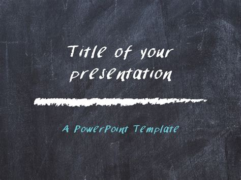 chalkboard powerpoint template rebocinfo