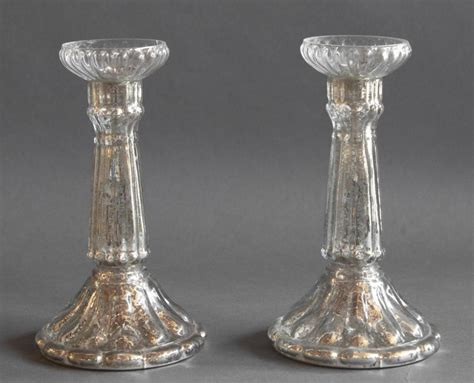 mercury candle holders antique decor mercury glass candle holders doherty house