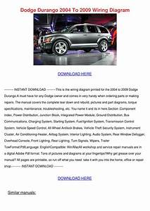 Dodge Durango 2004 To 2009 Wiring Diagram By Nada Tallada