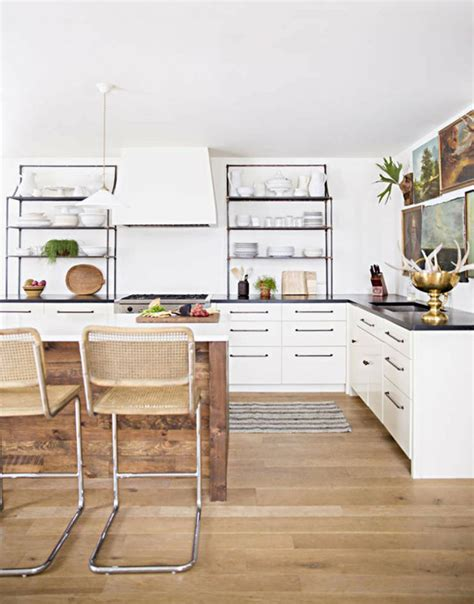 In The Details  White Kitchen + Wood Island Coco