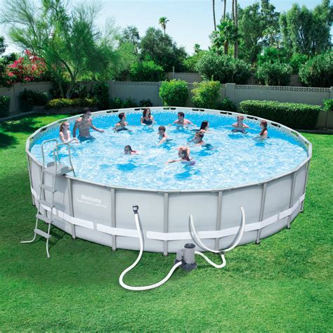 bestway     power steel frame pool set