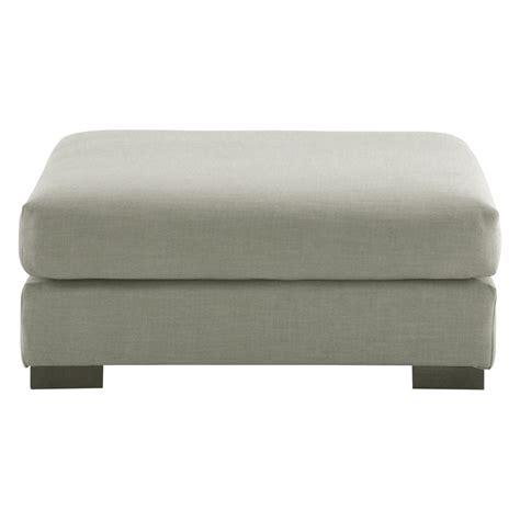 canapé pouf modulable pouf de canapé modulable en tissu monet gris clair terence