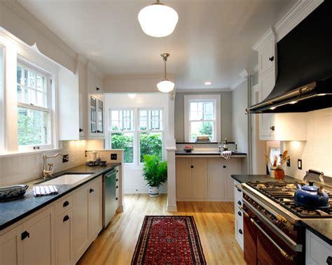 houzz galley kitchen designs volnay galley kitchen traditional kitchen 4342