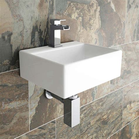 cubetto wall hung small cloakroom basin