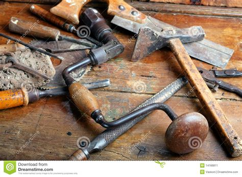 vintage woodworking tools stock image image  vintage