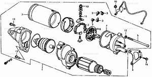 Honda Atv 1985 Oem Parts Diagram For Starter Motor