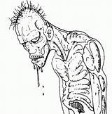 Coloring Pages Scary Zombie Adults Monster Drawing Ugly Halloween Zombies Cartoon Alien Drawings Pirate Pour Popular Pdf sketch template