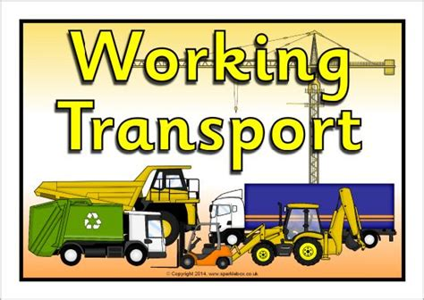 Working Transport Display Poster (sb10687)