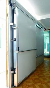Cold Storage Room Manual Sliding Door With Aluminum Single