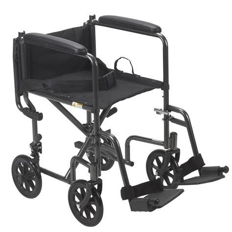 drive steel transport chair 17 quot seat width