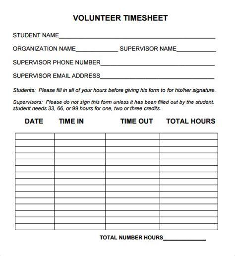 free 10 volunteer timesheet sles in google docs