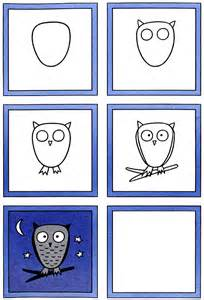 How to Draw an Owl Kids Drawing