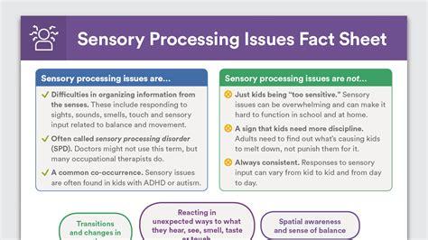 sensory processing disorder fact sheet