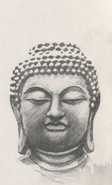 buddha face drawing  getdrawings