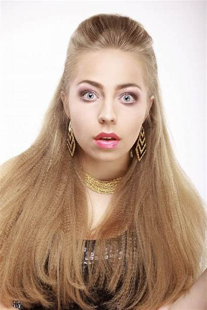 Woman Blonde Hair Blond Brown Face Surprised